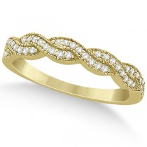 Diamond Infinity Semi Eternity Wedding Band 18k Yellow Gold (0.30ct)