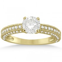 Vintage Heirloom Diamond Engagement Ring in 18k Yellow Gold (0.60ct)