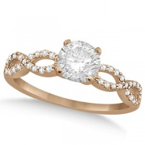 Twisted Infinity Round Diamond Engagement Ring 14k Rose Gold (2.00ct)