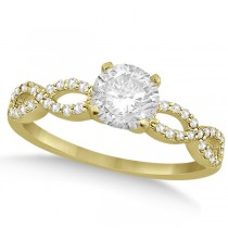 Twisted Infinity Round Diamond Engagement Ring 18k Yellow Gold (1.00ct)