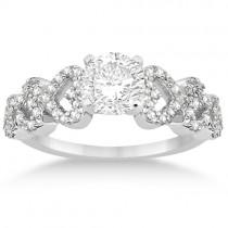 Heart Shape Diamond Engagement Ring Setting 18k White Gold (0.30ct)