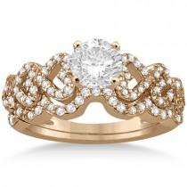 Heart Shape Diamond Engagement & Wedding Ring 18k Rose Gold (0.50ct)