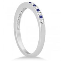 Tanzanite & Diamond Wedding Ring Band Palladium 0.29ct