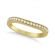 Curved Diamond Wedding Band 18k Yellow Gold (0.22ct)