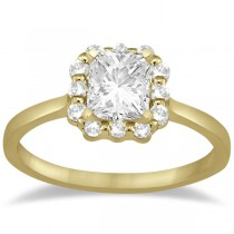 Princess Cut Diamond Frame Engagement Ring In 14K Yellow Gold (0.25ct)
