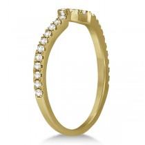 Diamond Halo Split Shank Engagement Bridal Set 14k Yellow Gold (0.67ct)