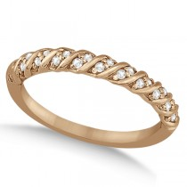 Diamond Rope Wedding Band in 14k Rose Gold (0.17ct)