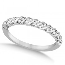 Diamond Rope Wedding Band in Palladium (0.17ct)