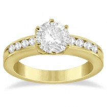 Classic Channel Set Diamond Engagement Ring 14K Yellow Gold (0.30ct)