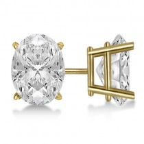 1.50ct. Oval-Cut Diamond Stud Earrings 14kt Yellow Gold (G-H, VS2-SI1)