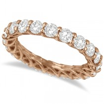 Luxury Diamond Eternity Band Anniversary Ring 14k Rose Gold (3.00ct)