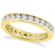 Channel-Set Diamond Eternity Ring Band 14k Yellow Gold (1.75 ct)