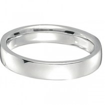 Palladium Wedding Ring Low Dome Comfort Fit (4 mm)