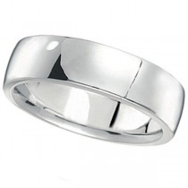 Men's Wedding Ring Low Dome Comfort-Fit in Platinum (6 mm)