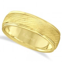 Diamond Cut Wedding Band For Ring in 14k Yellow Gold (7mm)
