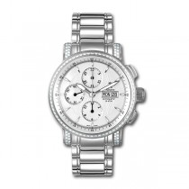 Allurez Unisex Auto-Mechanical Diamond Chronograph Timepiece (1.10ct)