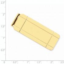 Boxed Design Money Clip Plain Metal 14k Yellow Gold