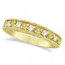 Fancy Yellow Canary & White Diamond Ring Band 14k Yellow Gold (0.50ct)