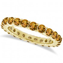 Citrine Eternity Ring Band 14k Yellow Gold (1.07ct)