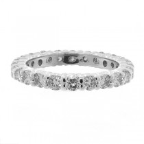 Diamond Eternity Ring Wedding Band 14k White Gold (1.07ctw)