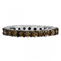 Champagne Diamond Eternity Band in 14K White Gold (2.00 ctw)