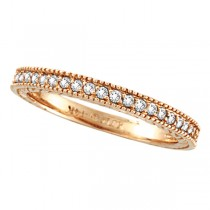 Diamond Eternity Wedding Ring Band in 14K Rose Gold (0.31ctw)