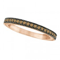 Champagne Diamond Ring Band 14K Rose Gold (0.31ct)
