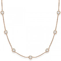 Diamonds by The Yard Bezel-Set Necklace in 14k Rose Gold (5.00ct)