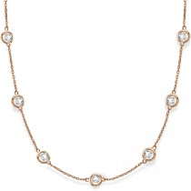 Diamonds by The Yard Bezel-Set Necklace in 14k Rose Gold (6.00ct)