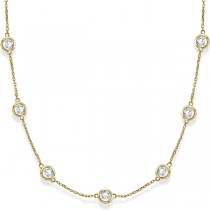 Diamonds by The Yard Bezel-Set Necklace in 14k Yellow Gold (6.00ct)