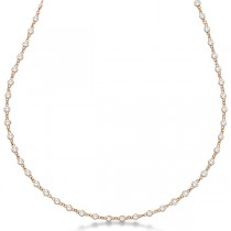 Diamonds by The Yard Eternity Necklace in 14k Rose Gold (7.55ct)