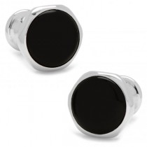 Men's Stainless Steel Onyx Magnetic Bloom Cuff Links