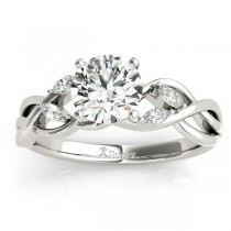 Diamond Marquise Vine Leaf Engagement Ring Setting 18k White Gold (0.20ct)