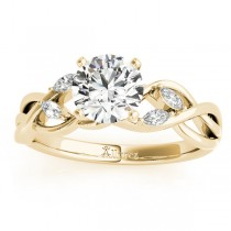 Diamond Marquise Vine Leaf Engagement Ring Setting 18k Yellow Gold (0.20ct)