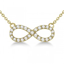 Twisted Infinity Diamond Pendant Necklace 14k Yellow Gold (0.50ct)