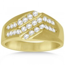 Diamond Accented Engagement Ring in 14k Yellow Gold (0.75ct)