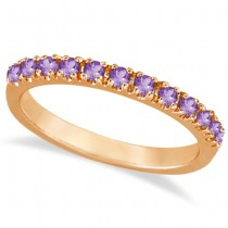 Amethyst Stackable Band Ring Guard in 14k Rose Gold (0.38ct)