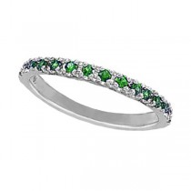 Tsavorite Stackable Ring Guard in 14K White Gold by Morris & David