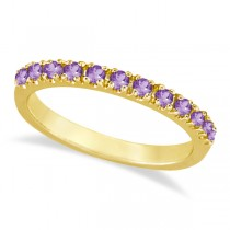 Amethyst Stackable Band Ring Guard in 14k Yellow Gold (0.38ct)