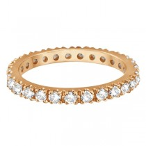 Diamond Eternity Stackable Ring Wedding Band 14K Rose Gold (0.51ct)