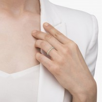 Fancy Yellow Canary & White Diamond Eternity Ring Band 14K Gold 1/2ct