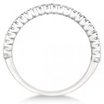 Half-Eternity Pave-Set Diamond Stacking Ring 14k White Gold (0.25ct)
