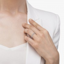 Half-Eternity Pave-Set Diamond Stacking Ring 14k White Gold (0.75ct)