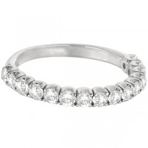 Diamond Wedding Band Anniversary Ring in 14k White Gold (1.00ct)