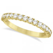 Half-Eternity Pave-Set Diamond Stacking Ring 14k Yellow Gold (0.75ct)