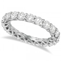 Luxury Diamond Eternity Anniversary Ring Band 14k White Gold (3.50ct)