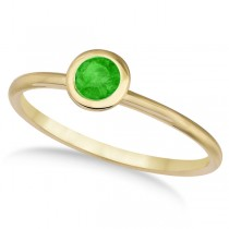 Tsavorite Bezel-Set Solitaire Ring in 14k Yellow Gold (0.65ct)