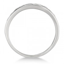 Channel-Set Diamond Anniversary Ring Band Palladium (0.25ct)