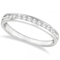 Channel-Set Diamond Anniversary Ring Band 14k White Gold (0.25ct)