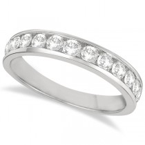 Channel-Set Diamond Anniversary Ring Band 14k White Gold (0.75ct)
